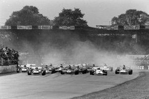 Clay Regazzoni, Ferrari 312B2, Jackie Stewart, Tyrrell 003 Ford, Jo Siffert, BRM P160
