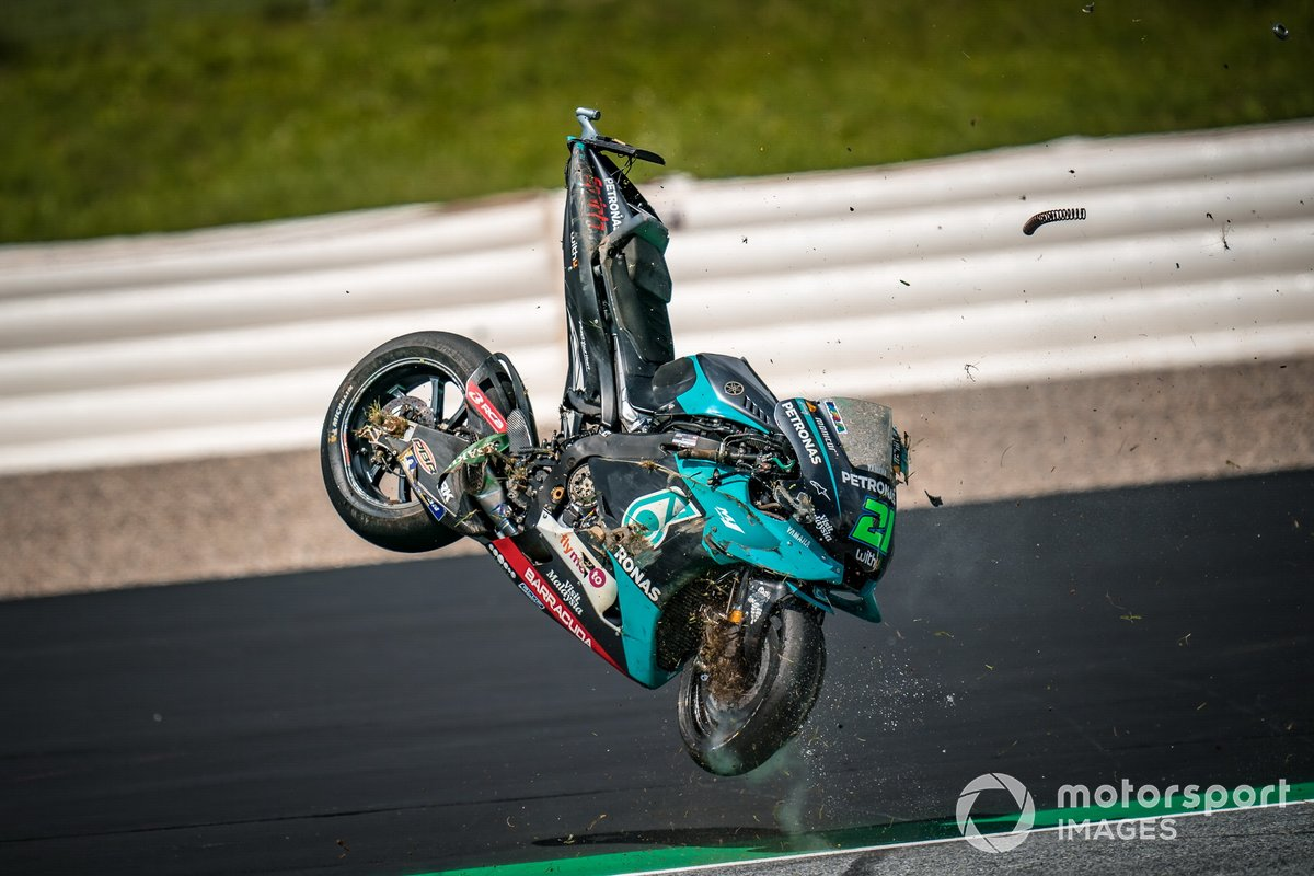 L'incidente di Franco Morbidelli, Petronas Yamaha SRT