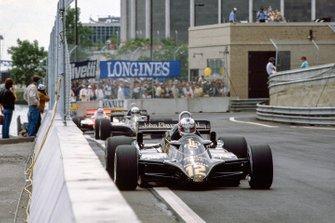 Nigel Mansell, Lotus 91 Ford, Elio de Angelis, Lotus 91 Ford, John Watson, McLaren MP4-1B Ford