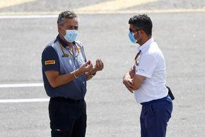 Mario Isola, Racing Manager, Pirelli Motorsport and Michael Masi, Race Director