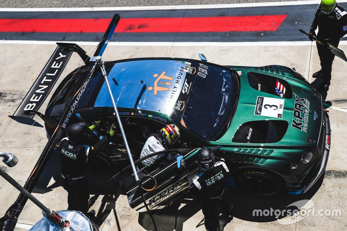 #3 K-Pax Racing Bentley Continental GT3: Rodrigo Baptista, Maxime Soulet, Jules Gounon