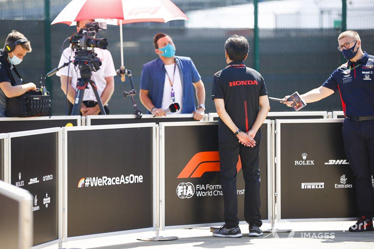Toyoharu Tanabe, Director Técnico de F1, Honda habla con los medios de comunicación