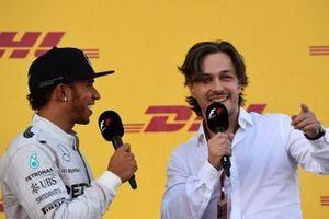 Alex Popov interviews Lewis Hamilton, Mercedes AMG