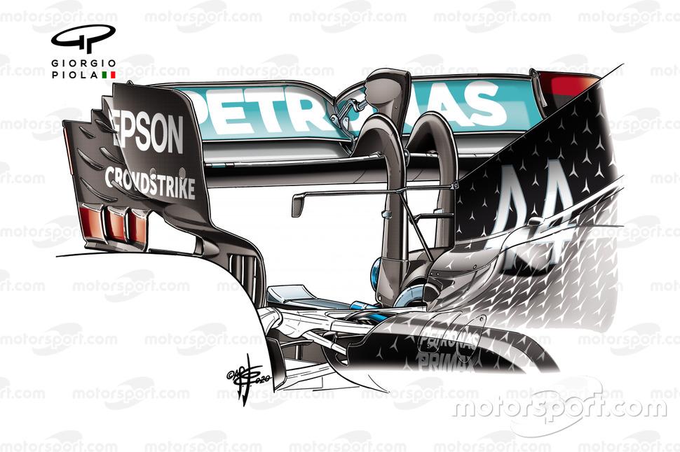 Ala posteriore Mercedes AMG F1 W11