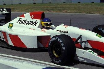 Michele Alboreto, Footwork FA13 Mugen-Honda
