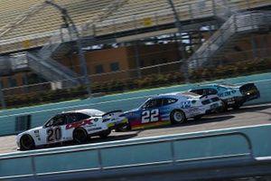 Harrison Burton, Joe Gibbs Racing, Toyota Supra, Noah Gragson, JR Motorsports, Chevrolet Camaro, Austin Cindric, Team Penske Ford
