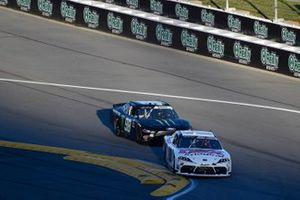 Harrison Burton, Joe Gibbs Racing, Toyota Supra DEX Imaging and Riley Herbst, Stewart-Haas Racing, Ford Mustang Monster Energy