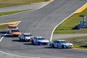 Cole Custer, Stewart-Haas Racing, Ford Mustang Dixie Vodka, Ryan Preece, JTG Daugherty Racing, Chevrolet Camaro Kroger/Coca-Cola, and Brad Keselowski, Team Penske, Ford Mustang Discount Tire