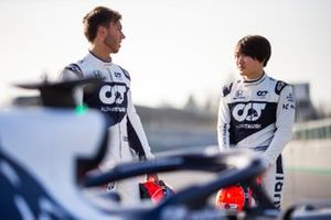Pierre Gasly and Yuki Tsunoda, AlphaTauri AT02
