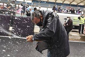 Lewis Hamilton, Mercedes-AMG F1, celebra su 7º Mundial de F1 con Mercedes