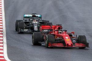 Sebastian Vettel, Ferrari SF1000, Lewis Hamilton, Mercedes F1 W11
