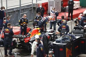 Max Verstappen, Red Bull Racing RB16B, in the pit lane