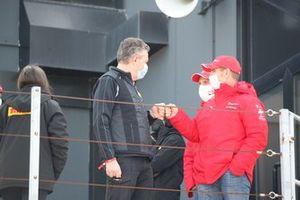 Mario Isola, Responsabile car racing di Pirelli e Alessandro Pier Guidi, Pilota Ferrari Competizioni GT