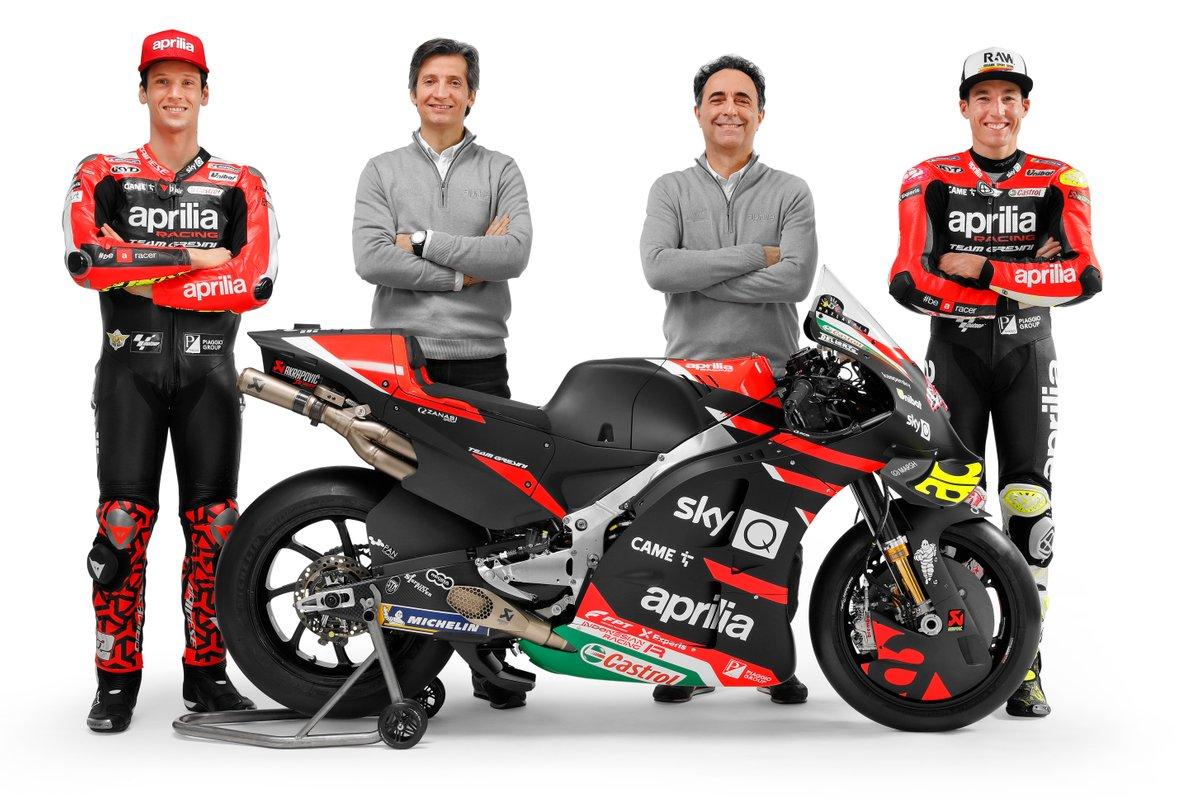 Massimo Rivola, Romano Albesiano, Aleix Espargaro e Lorenzo Savadori, Aprilia Racing Team Gresini