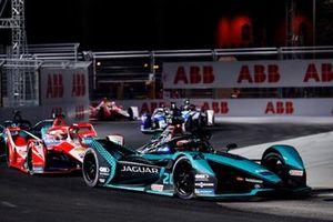 Mitch Evans, Panasonic Jaguar Racing, Jaguar I-Type 5, Alex Lynn, Mahindra Racing, M7Electro
