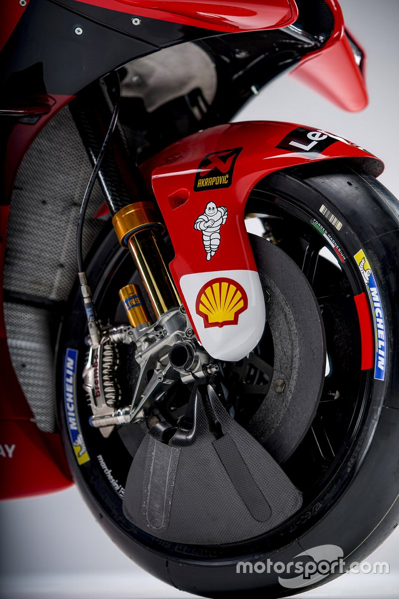 Detalle de la Ducati Desmosedici GP21