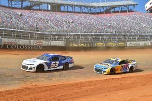 J.J. Yeley, Rick Ware Racing, Chevrolet Camaro, Ryan Preece, JTG Daugherty Racing, Chevrolet Camaro BUSH'S Beans/Kroger