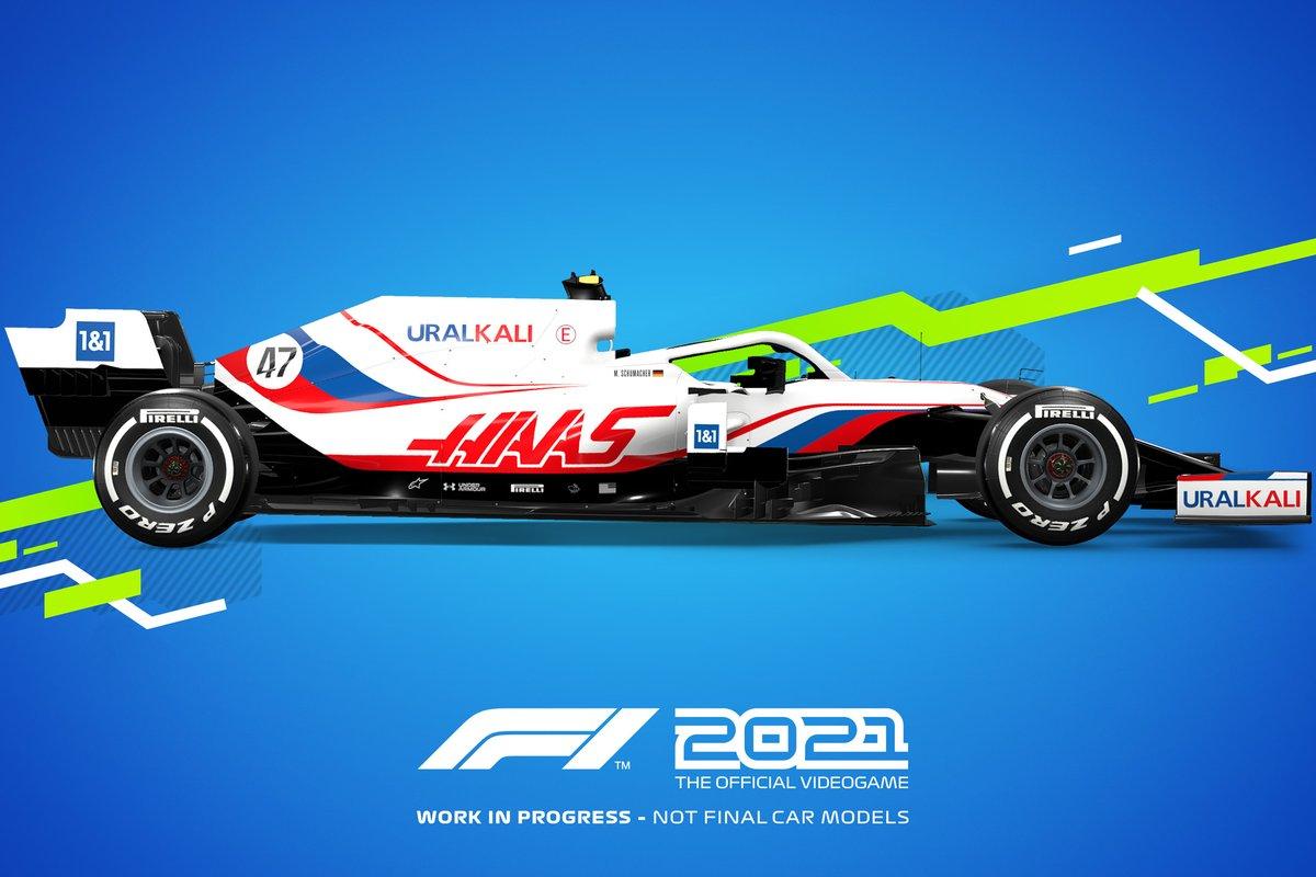 Decoración F1 2021 Haas F1 Team