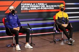 Nicholas Latifi, Williams and Daniel Ricciardo, McLaren in the Press Conference