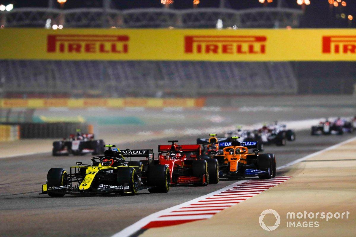 Esteban Ocon, Renault F1 Team R.S.20, Sebastian Vettel, Ferrari SF1000, Alex Albon, Red Bull Racing RB16