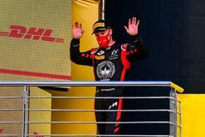Nikita Mazepin, Hitech Grand Prix, 3rd position, on the podium