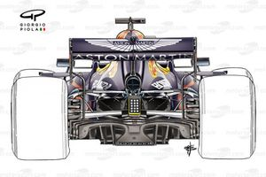 Red Bull Racing RB16 rear, single pillar