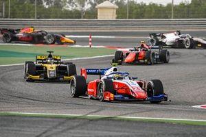 Robert Shwartzman, Prema Racing leads Guanyu Zhou, UNI-Virtuosi and Felipe Drugovich, MP Motorsport