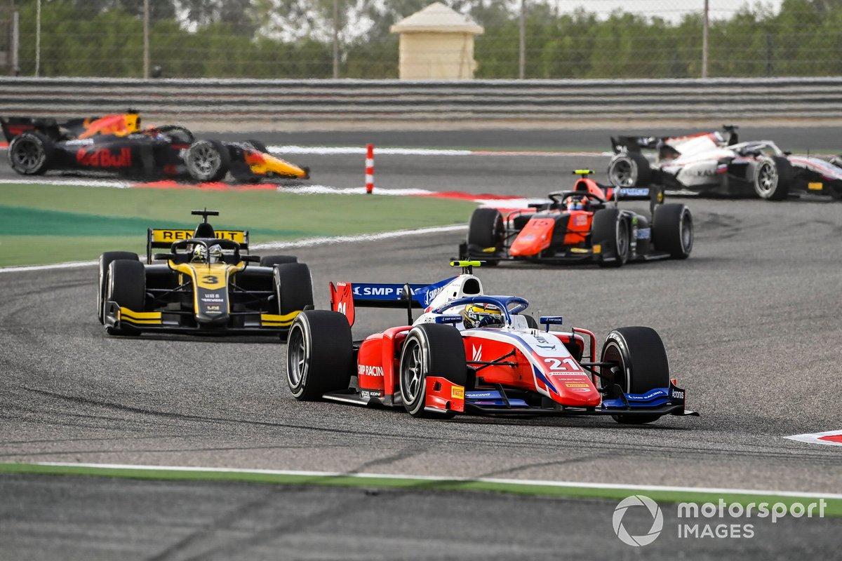 Robert Shwartzman, Prema Racing precede Guanyu Zhou, UNI-Virtuosi e Felipe Drugovich, MP Motorsport