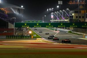 Sebastian Vettel, Ferrari SF1000, Lando Norris, McLaren MCL35, and Pietro Fittipaldi, Haas F1 Haas VF-20