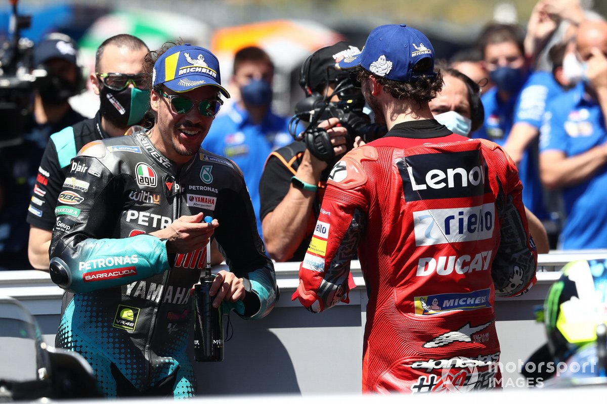 Franco Morbidelli, Petronas Yamaha SRT, Francesco Bagnaia, Ducati Team
