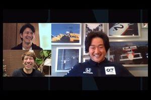 角田裕毅、中野信治、サッシャ:DAZN特集番組「ホンダの躍進 EP7 角田裕毅 F1デビュー決定」