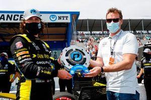 Pole award winner Colton Herta, Andretti Autosport Honda