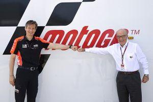 Massimo Rivola, Aprilia Racing CEO, Carmelo Ezpeleta, Dorna CEO