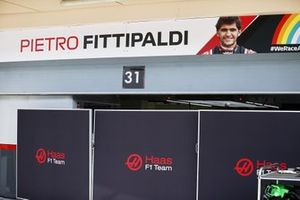 Pietro Fittipaldi, Haas F1 Test and Reserve Driver garage.
