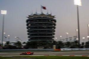 Sebastian Vettel, Ferrari SF1000, heads to the grid