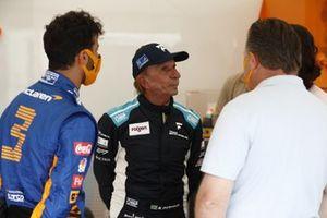 Daniel Ricciardo, McLaren with Emerson Fittipaldi