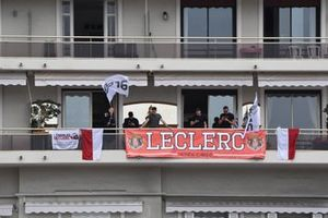 Support for local driver Charles Leclerc, Ferrari
