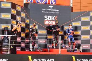 Pere Riba, Alex Lowes, Kawasaki Racing Team WorldSBK, Jonathan Rea, Kawasaki Racing Team WorldSBK, Toprak Razgatlioglu, PATA Yamaha WorldSBK Team