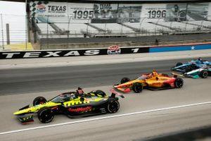 Ed Jones, Dale Coyne Racing avec Vasser Sullivan Honda, Ryan Hunter-Reay, Andretti Autosport Honda