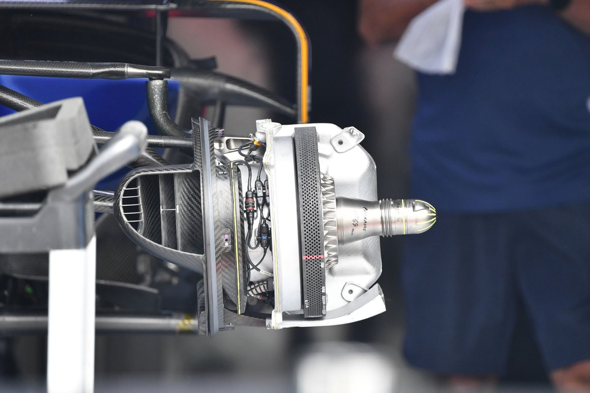Detalle del freno delantero del Williams FW43B