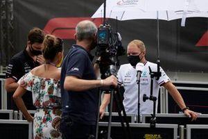 Valtteri Bottas, Mercedes, is interviewed