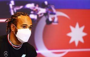 Lewis Hamilton, Mercedes at press conference