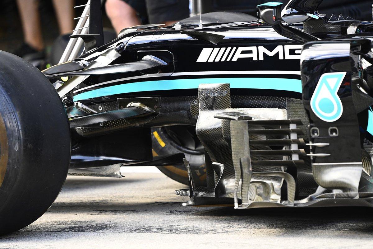Mercedes W12 bargeboard detail
