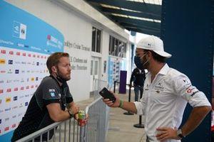 Sam Bird, Jaguar Racing, is interviewed by Jean-Eric Vergne, DS Techeetah
