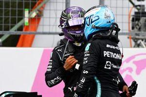Lewis Hamilton, Mercedes, en Valtteri Bottas, Mercedes, 3rd position