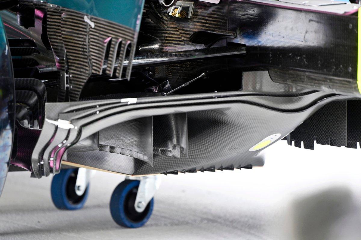 Detalle técnico del Aston Martin AMR21