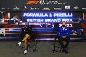 Fernando Alonso, Alpine F1, and Nikita Mazepin, Haas F1, in the press conference