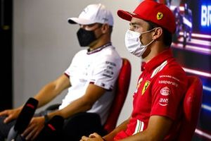 Charles Leclerc, Ferrari and Valtteri Bottas, Mercedes in the Press Conference