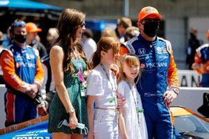 Scott Dixon, Chip Ganassi Racing Honda et sa famille sur la grille de départ