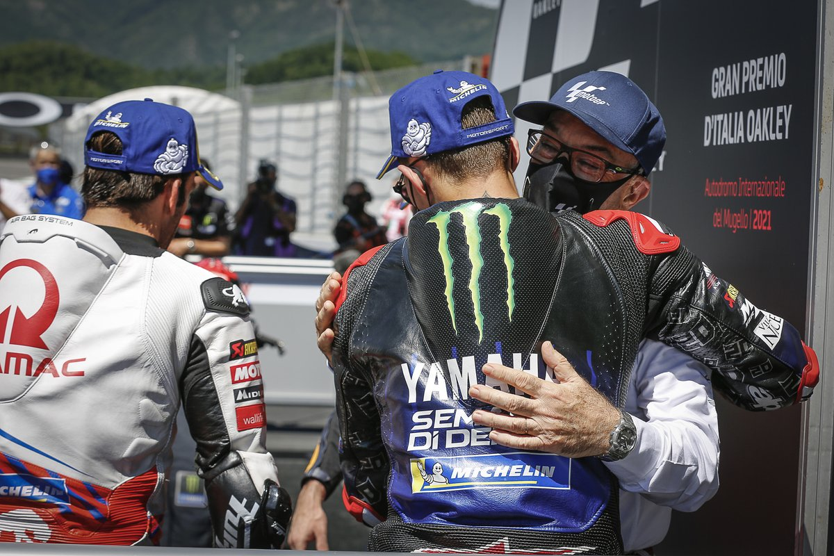 Ganador Fabio Quartararo, Yamaha Factory Racing, Carmelo Ezpeleta, CEo de Dorna